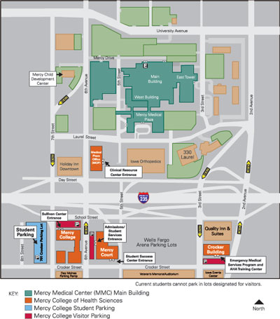 Mercy College Of Health Sciences About Us Campus Map - Us campus map
