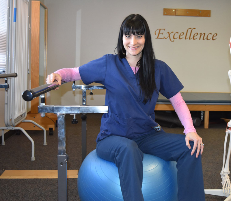 Physical Therapist Assistant student in the classroom
