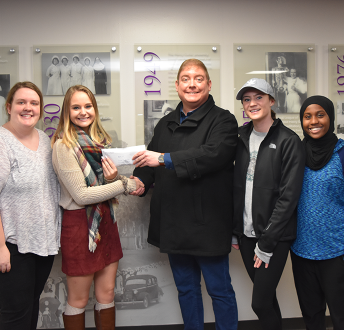 Donation envelope handed to Mercy College students