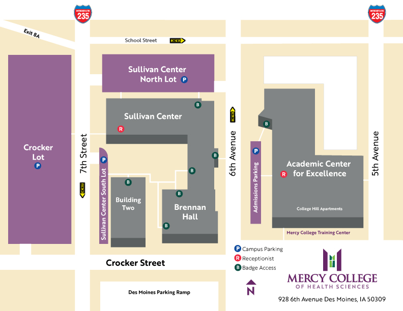 Mercy Hospital Campus Map.Mercy College Of Health Sciences About Us Campus Map